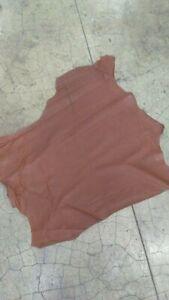 1.5 oz Thin. Italian Lambskin skin leather hide Smooth Pink 7 sq.ft