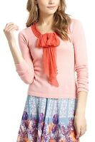 Anthropologie Silken Jabot Pullover Sweater By Guinevere M