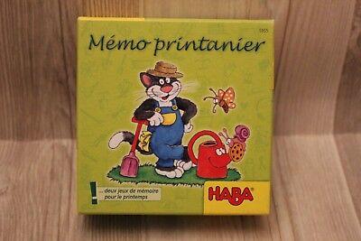 Origineel Haba Mémo Printanier - Jeu De Mémoire - Jeu éducatif Pour Enfants - Complet