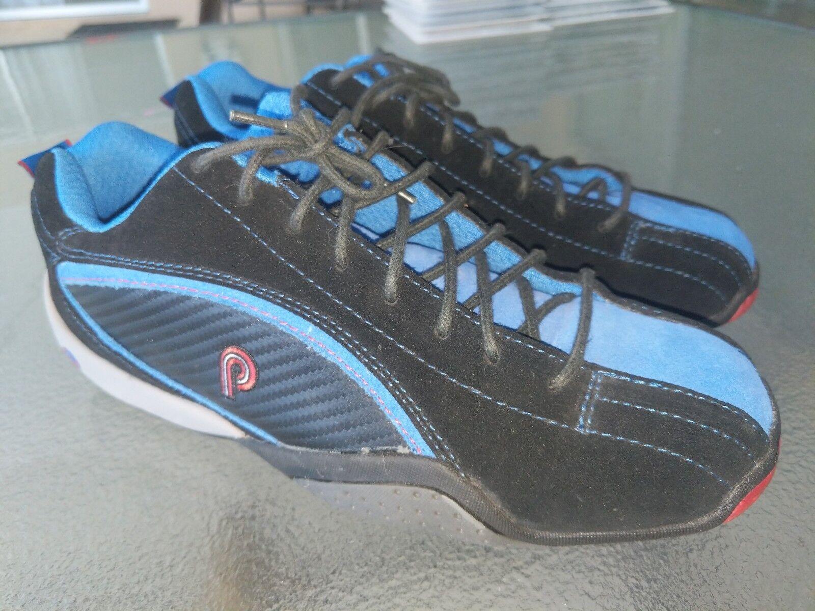 Piloti Sebring Black   bluee Leather Driving Race shoes Mens Sz 7 Mint Condition