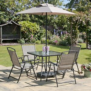 oasis patio set outdoor garden furniture 7 piece folding chairs rh ebay co uk Decks for Outdoor Rugs Indoor Lawn Furniture