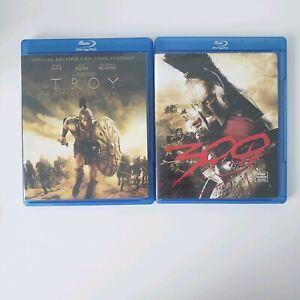 300-and-Troy-Movie-Brad-Pitt-Gerard-Butler-Blu-Ray-Bundle-Set-Lot