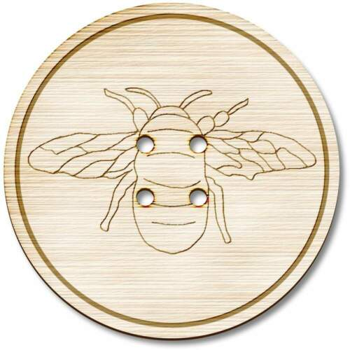 /'Bee/' Wooden Buttons BT019950