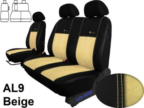 FORD TRANSIT CUSTOM VAN 2014 2015 ECO LEATHER /& ALICANTE TAILORED SEAT COVERS