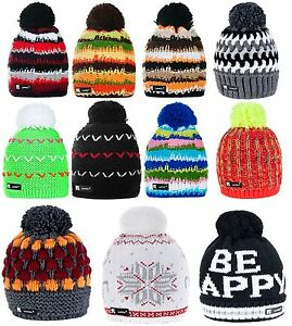 Image is loading Unisex-Knitted-Beanie-Hat-Winter-Wool-NORDIC-Warm- 536166135e9