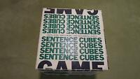 Vintage Antique Retro 1972 Sentence Cubes Game - By Itemation Inc
