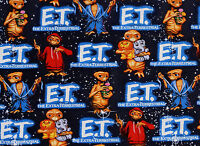 E T W/ Animals The Extra Terrestrial Universal Studio 100% Cotton Fabric Yardage