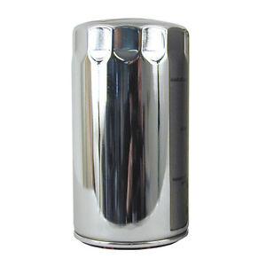 Magnet-Olfilter-Chrom-lang-fuer-Harley-Davidson-Dyna-91-98
