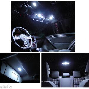 GOLF-5-V-ou-6-KIT-11-Ampoules-LED-Blanc-eclairage-interieur-habitacle-Coffre-sol