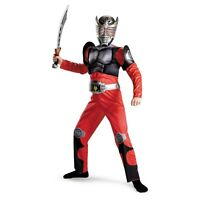 Boys Deluxe Kamen Rider Dragon Knight Muscle Costume + Mask Childs Small 4 6