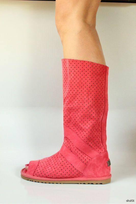promozioni New AUSTRALIA LUXE 'Ishtar' coral suede suede suede open toe gladiator stivali - HOT  nuova esclusiva di fascia alta