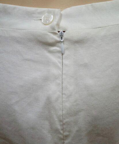 Blend Panel Kjol 46 Hvit Linen 32 Lilac Jeans Summer Versace Pencil Couture xw4YqaYB