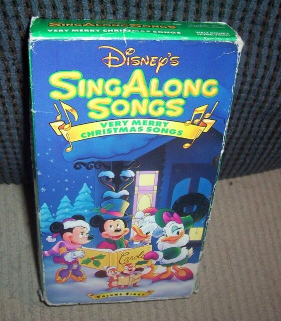 Disney's Sing Along Songs - Very Merry Christmas Songs (VHS, 1997)   eBay