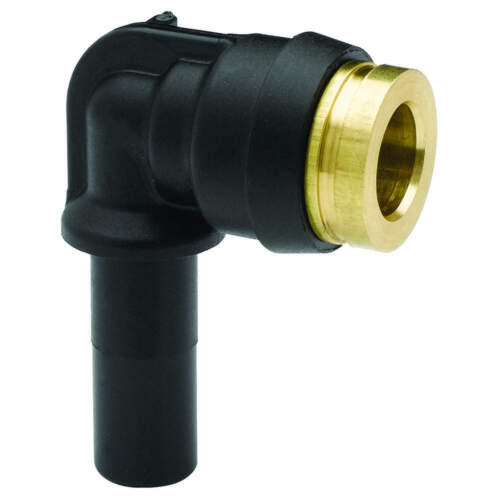 PARKER 369PTCSP-6-4 Plug In Elbow,Nylon,1//4 in Pipe Size