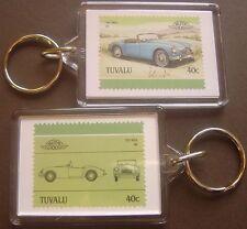 1957 MG MGA Car Stamp Keyring (Auto 100 Automobile)