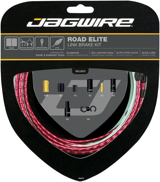 Jagwire Strada Elite Gancio Cavo Del Freno Kit Sram Shimano With Ultra-Slick