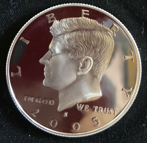 Immaculate Coins!!!! 2005 S Gem Proof 90/% Silver Kennedy Half Dollar-DCAM