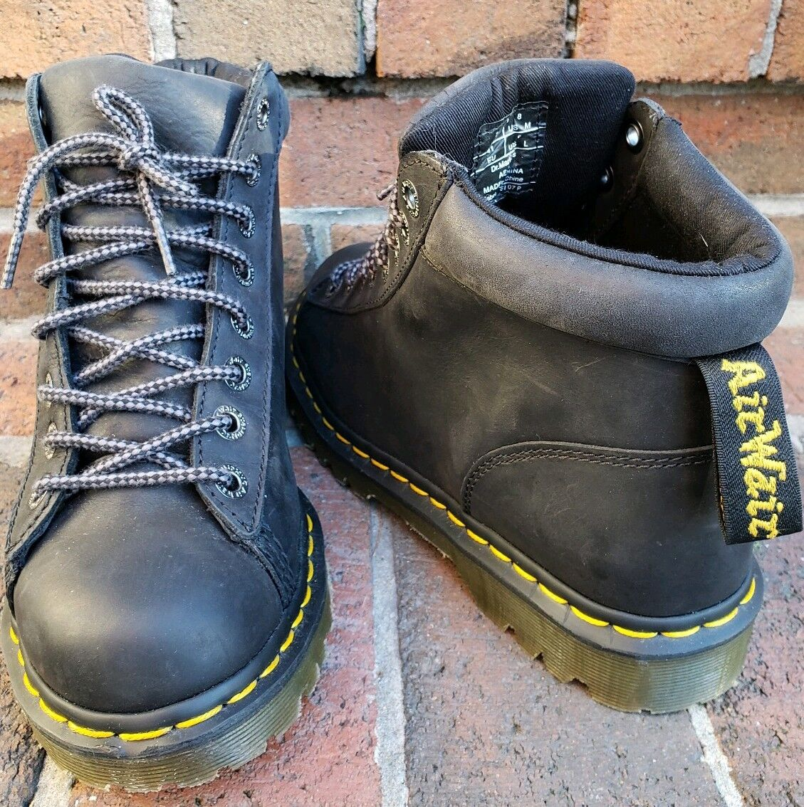 Dr. Doc Martens Arne Black Ankle Leather Boots US Mens 8 US W 9 EUC