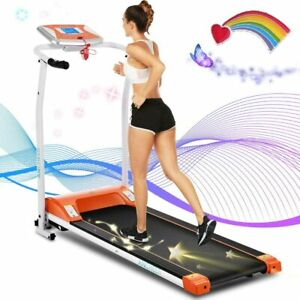 2 in 1 Folding Smart Treadmill Walking Running Machine w/Speaker & LCD Monitor