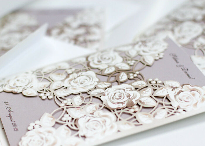 Einladungskarten Hochzeit, Hochzeitseinladungskarte HE099  Umschlag, Einladung | Genialität  | Outlet  | Louis, ausführlich