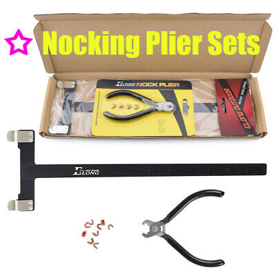 T Bow Square Bowstring Buckle Clip Nocking Points Plier Nock Protector Set