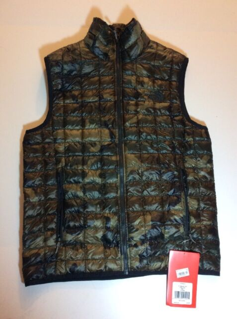51427a916 NWT $149 Mens The North Face Thermoball Vest Green Camo SIze Small Packable