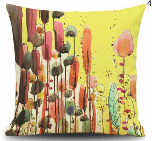 Vintage Oil Painting Cotton Linen Pillow Case Car Throw Cushion Cover Home Decor