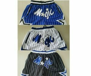 Orlando Magic Shorts Men/'s Basketball Pants Game Mesh Retro Stitched Shorts NWT