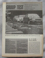 1968 Mercdes V's BMW, Jaguar, NSU Ro80 & Rover P5 Motor magazine test