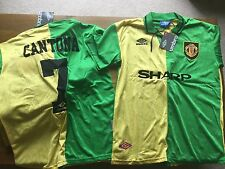MANCHESTER UNITED MAN UNITED Newton Heath 92-94 Cantona 7 GREEN & YELLOW RETRO