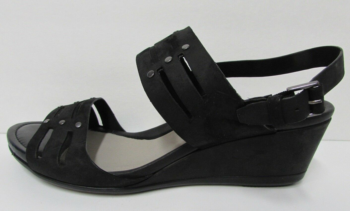 Ecco tamaño nos 10 10.5 Nuevos Mujer Zapatos Sandalias De Cuero Negro