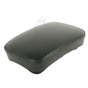 Balck-Passenger-Seat-Backrest-Pad-W-6-Sucker-Removable-fit-For-Harley-Cruiser