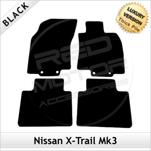 Fits for NISSAN X-TRAIL Mk3 2014 onwards Tailored LUXURY 1300g Carpet Mats BLACK