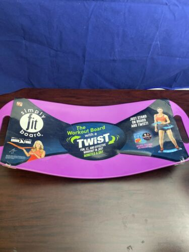 Simply Fit Board w// Workout DVD~As Seen on TV~Twist ABS Legs Exercise PURPLE