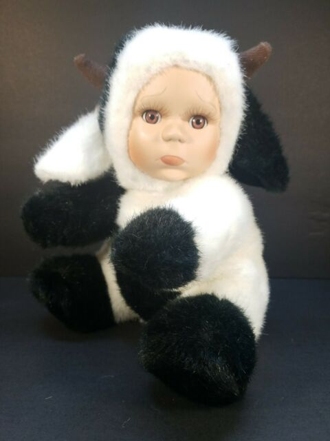 Cuddle Kids Geppedo Porcelain Sad Face Cow Outfit Babydoll