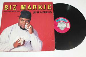 Biz-Markie-JUST-A-FRIEND-Maxi-Single-Vinyl-Record-Vocal-Instrument-1989-Warner-B
