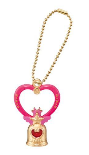 Sailor Moon Mascot PVC Keychain SD Figure Crystal Carillon Transform Stick@95771