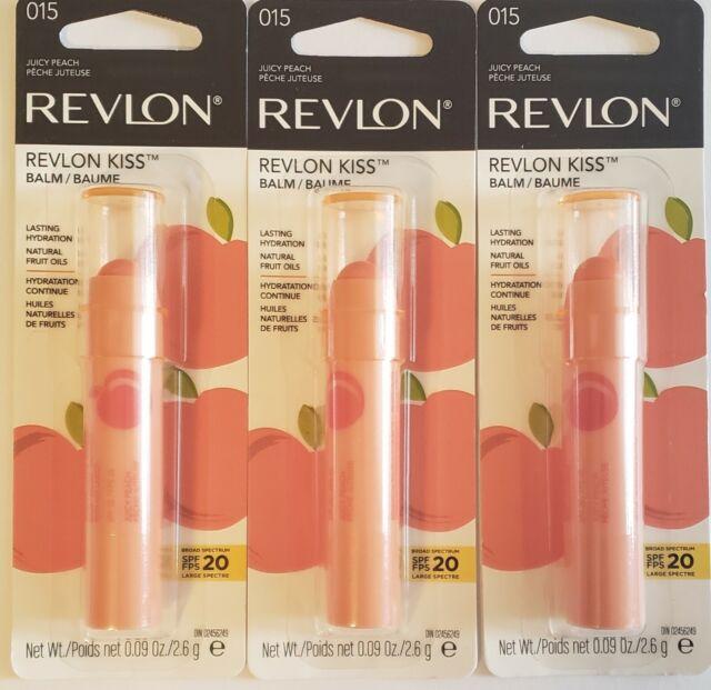 Revlon Kiss Lip Balm - Juicy Peach- 3 Pack | eBay