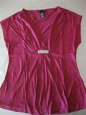 Bluse Gr. XS 34/36 Shirt mit Strass, Party Disco, Weinrot, toll, sehr schön