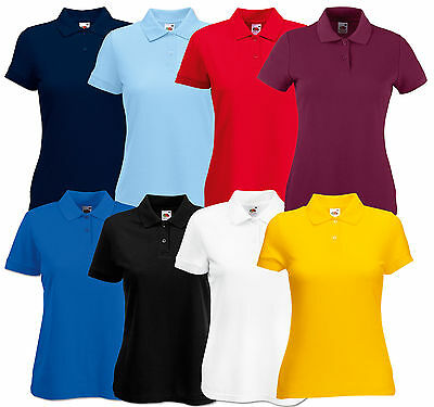 FRUIT OF THE LOOM DAMEN POLOSHIRT POLO PIQUE 65/35 S M L XL XXL POLOSHIRTS SHIRT