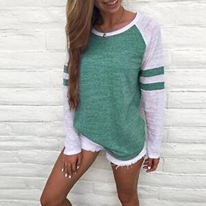 Women-Casual-Tops-T-Shirt-Loose-Fashion-Blouse-Cotton-Blouse-Long-Sleeve