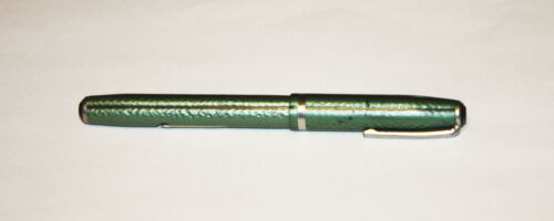 1950s Classic Esterbrook Fountain Pen Green and Pearl