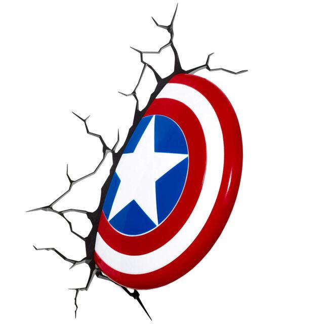Marvel Vengadores Capitán América 3D Luz / Noche Luz