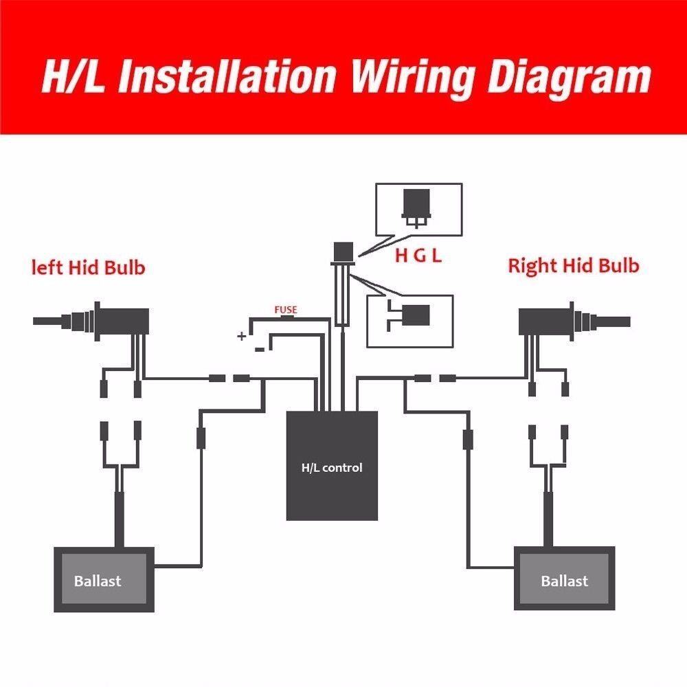 35w/55w hid xenon headlight conversion kit bulb h1 h4 h7 h11 9005 9006 880  hi-lo