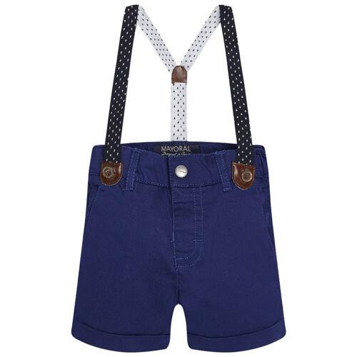 MAYORAL blaue Chino-Shorts mit Hosenträger für Jungs