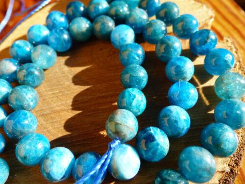 8mm Apatit A Edelstein blau Strang Perlen Schmuck Bastel