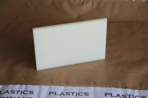 "1//2/"" Cast Nylon Sheet Natural 7/""x10.5/"" Cnc Millstock Plastic1302"