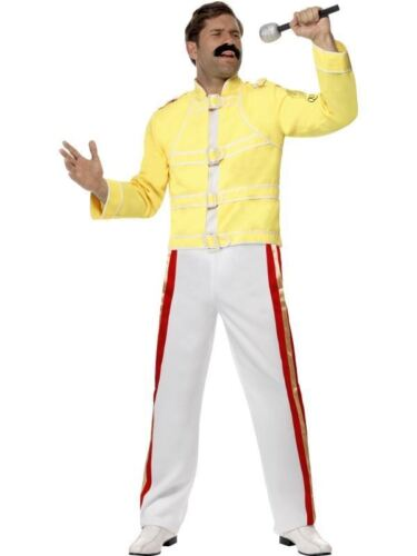 QUEEN FREDDIE MERCURY Costume Dress Up Vestito 80s adulto Band Vocalist Star