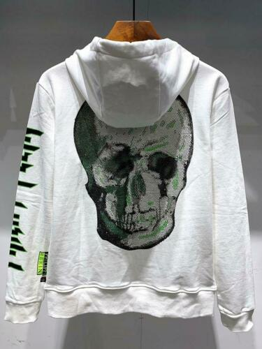 Men/'s Sweatshirts Zipper Hoodies New Spring Winter plein hot drill skull P3043