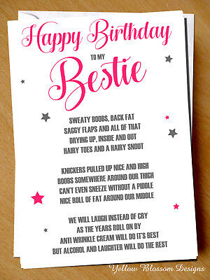 Groovy Funny Cheeky Happy Birthday Card Best Friend Meilleur Ami Personalised Birthday Cards Veneteletsinfo